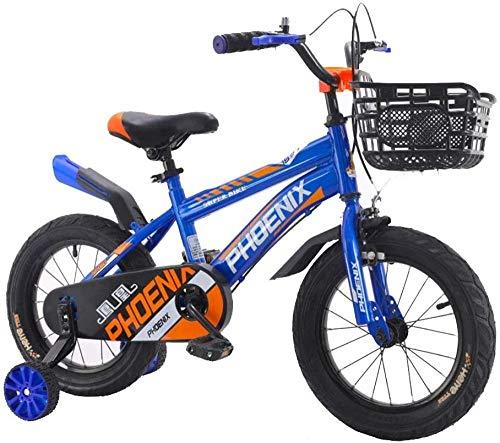 Bicicleta deportiva 14 16 18 pulgadas Bicicletas para niños con rueda de entrenamiento 3-13 años regalo niño rojo azul_16 pulgadas