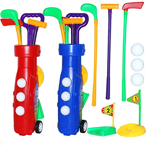ZPL Soltero Golf Club Juguete Material De Plastico Juego Mental con Ruedas Fácil De Cargar Adecuado para Interior Y Exterior (Color Aleatorio),Random Color