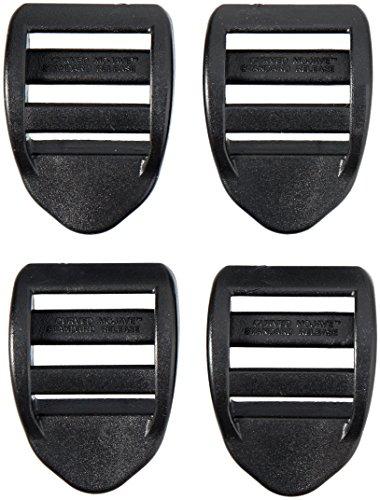 AceCamp 7050 Duraflex Lot de 4 serrures à échelles Noir 20 mm