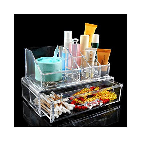 Generic EQC365: Organizador de cosméticos transparente acrílico caliente barato maquillaje estuche lápiz...