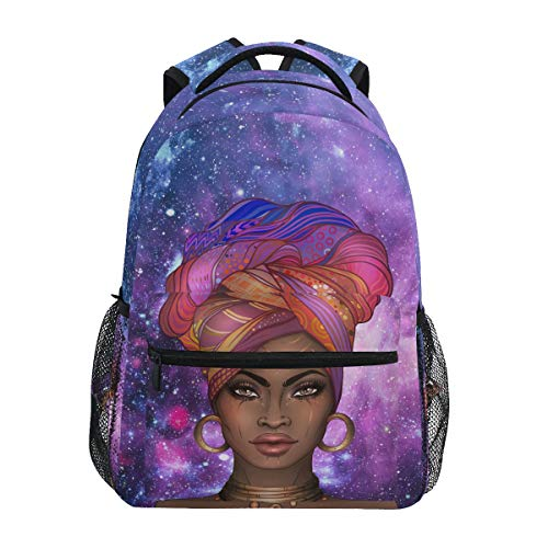 Africa American Pretty Black Girl Backpack School Bookbag for Boys Girls 2022084