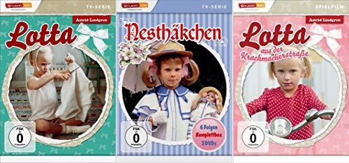Lotta aus der Krachmacherstraße (TV-Serie + Spielfim) + Nesthäckchen - TV-Serie (5 DVDs)