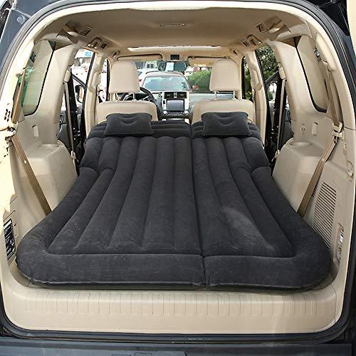 Vinteky Auto SUV Luftmatratze Bewegliche Dickere Luftbett Auto Matratze für Reisen Camping Outdoor Aktivitäten (schwarz)