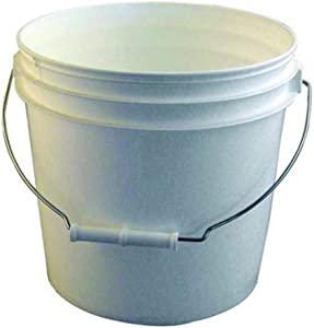 Bon 84-230 3-1/2-Gallon Reinforced Plastic Bucket, White