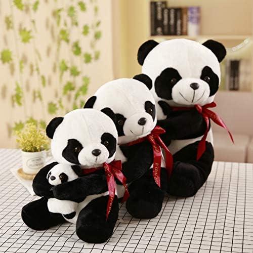 Chiwava Peque/ño Relleno Panda de Juguete de Felpa chillona con Ropa de Navidad Desmontable Juguete de Cachorro de Animal Suave Juego Interactivo