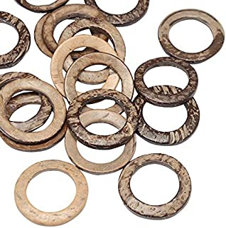 PandaHall 20pcs 38mm Wooden Rings Linking Rings for Bracelet Necklace Jewelry DIY Craft Making