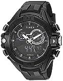 Timex Men's TW5M23300 DGTL Guard Bold Combo 47mm Black/Negative Resin Strap Watch