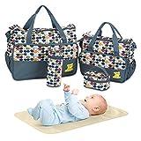 5PCS Diaper Bag Tote Set - Baby Bags for Mom (Gray)