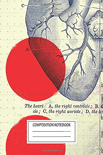 """Notebook: Modern Abstract Collage Heart 01 , Journal for Writing, Size 6"""" x 9"""", 164 Pages"""
