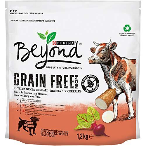 Purina Beyond Grain Free pienso Natural para Perro con Buey 6 x 1,2 Kg - 1 Sacos