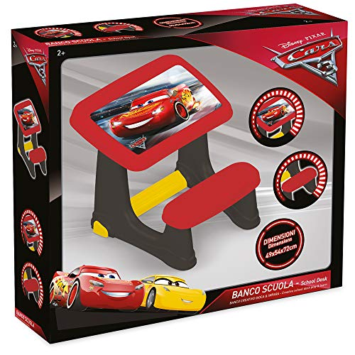 Grandi Giochi GG01663-Banco Scuola Cars 3, Multicolore, GG01663