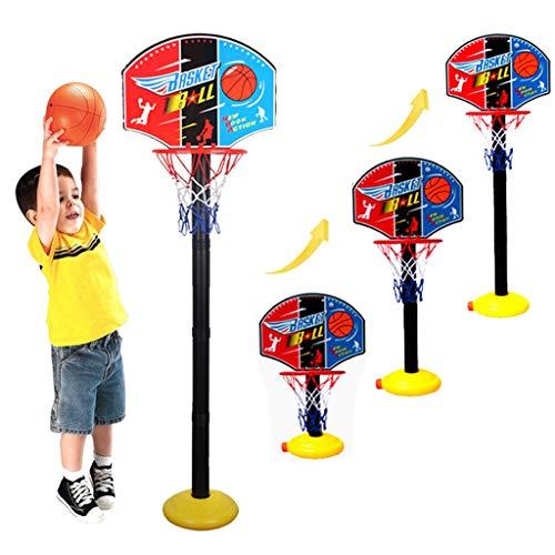 UKtrade Soporte de baloncesto para niños ajustable al aire libre deportes de interior portátil de baloncesto aro de juguete juego de regalo de soporte de bola de tablero