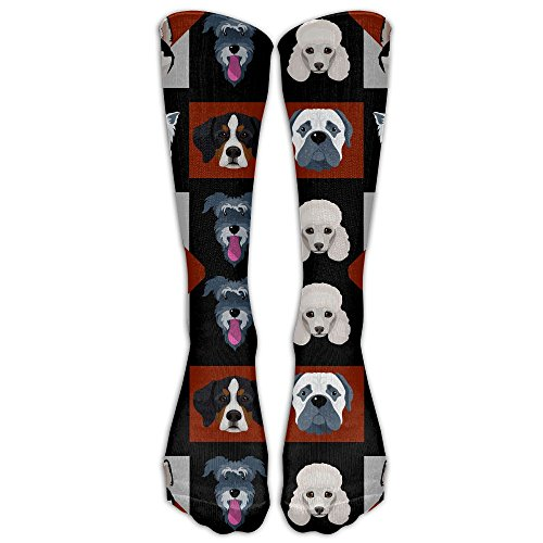 Animal Puppy Unisex Comfortable Crew Winter Socks For Women Compression Socks