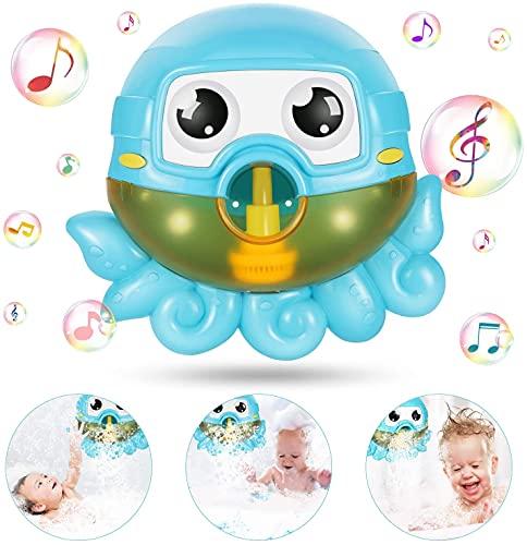 joylink Badespielzeug Bubble, Badespielzeug Bubble Kinder Bubble Machine Automatische Bubbles Maker Octopus Seifenblasenmaschine Wasserspielzeug mit 42 Musik für Badewanne Kleinkindspielzeug
