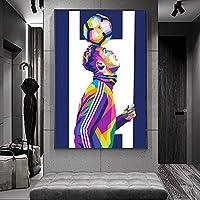 ロナウドウォールアートキャンバス絵画ポスターとプリントリビングルームオフィス装飾絵画家の装飾