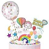 Decoracion Tartas Cumpleaños 29 Accesorios, Topper Tarta Cumpleaños, Cake Topper, Decoración Tarta, Decoracion Para Tartas Infantiles para Tartas De Chuches, Feliz Cumpleaños Tarta