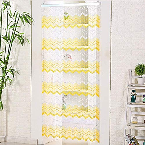 ZXL Beaded curtains plastic door trim room divider decor hanging strings (color: A, size: 90x185cm-75 strands)