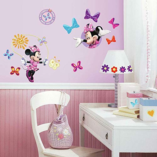 Joy Toy RM - Disney Minnie und Daisy Wandtattoo, PVC, Natur, 29 x 13 x 2.5 cm