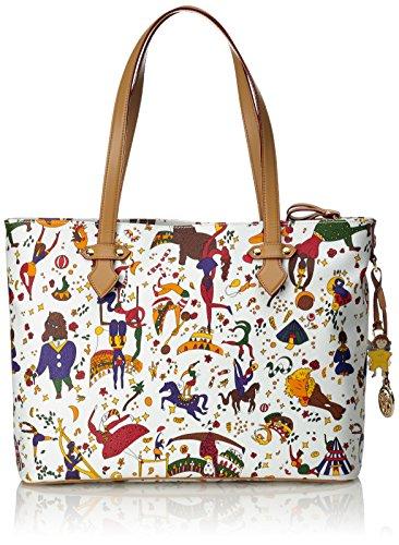 piero guidi Chiara Tote Bag con Zip, Borsa Donna, Bianco (Bianco), 34x30x10 cm (W x H x L)