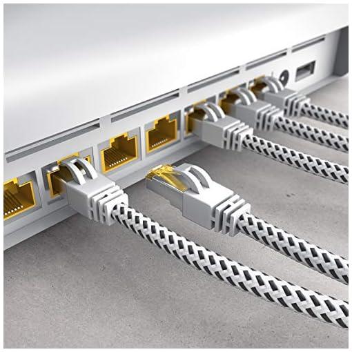 CSL - Cable de Red Gigabit Ethernet LAN, 0,25 m, Revestimiento de algodón, 10000 Mbit s, Cable de Pares Trenzados, Cable… 6