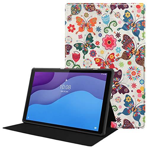 HoYiXi Funda para Lenovo Tab M10 HD (2ª Generación) 10,1' Tablet 2020 Ultra Slim TPU Cuero Cover Anti-Drop Funda Protectora para Lenovo Tab M10 HD (2ª Generación) TB-X306X/TB-X306F 2020 - Mariposa