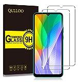 QULLOO Protector de Pantalla Huawei Y6p, Cristal Templado [9H Dureza][Alta Definición][Fácil de Instalar] para Huawei Y6p (2 Piezas)