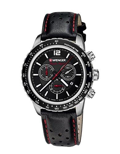 Wenger Roadster Black Night Chrono 01.0853.105 - Reloj de pulsera unisex, Negro