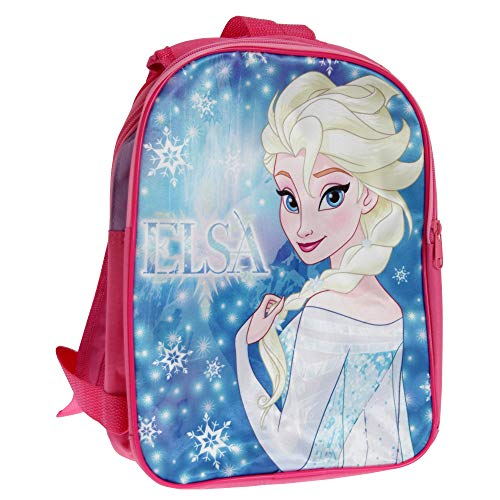 Disney Frozen Girls Backpack With Reversible Straps (One Size) (Pink/Blue)