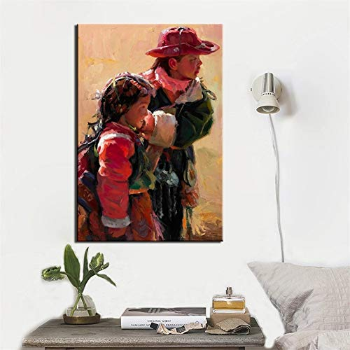 DIY 5D diamante pintura kit completo, Niños tibetanos Diamond Painting for adults/niños dot cristal Rhinestone punto de cruz bordado art decor de la pared del hogar Round Drill,40x60cm(16x24in)