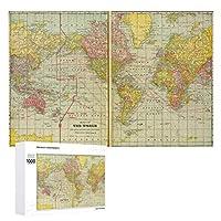 INOV シッピングレーンが付いている世界地図 ジグソーパズル 木製パズル 1000ピース インテリア 集中力 75cm*50cm 楽しい ギフト プレゼント