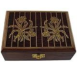 Hashcart Artesano indio, hecho a mano y hecho a mano caja de joyería de madera/baratija organizador de almacenamiento de joyas y regalos para Navidad