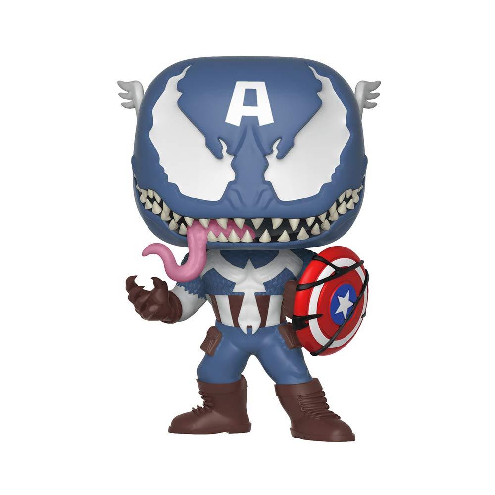 Funko Pop Marvel: Venom - Venom Captain America Collectible Figure, Multicolor