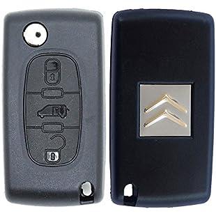 RKFUK Citroen Replacement 3 Button Remote Car Key Fob Case with VAN Symbol and VA2 Flip Blade:Hitspoker