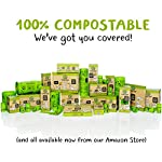 Compostable Dog Poop Bags, Plant-Based Poop Bag for Dogs. 60 Unscented Thick Leak Proof Pet Waste Bags 11x13. 4 x Refill Rolls Fit Standard Dispensers. Highest Rated ASTM D6400 Supports Doggie Rescue 14