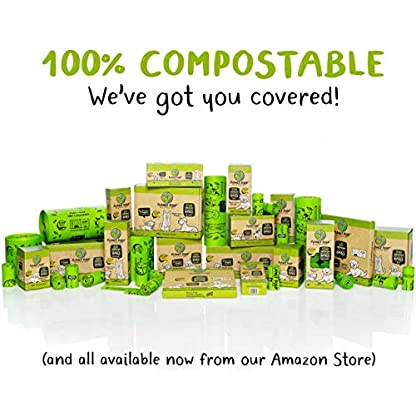 Compostable Dog Poop Bags, Plant-Based Poop Bag for Dogs. 60 Unscented Thick Leak Proof Pet Waste Bags 11x13. 4 x Refill Rolls Fit Standard Dispensers. Highest Rated ASTM D6400 Supports Doggie Rescue 7