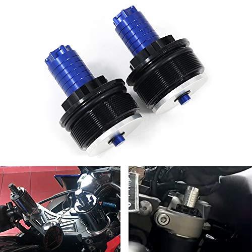 Xitomer Aftermarket CNC Fork Preload Adjuster, Fit for HONDA CB650F/ NC700/ VT1300, KAWASAKI Ninja650 /400, SUZUKI GSX600/ SV650, YAMAHA FZ07 and so on, Motorcycles Fork Preload Adjusters (Blue)