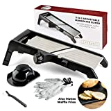 Best Mandolin Slicers - Mandoline Food Slicer, Adjustable Stainless Steel with Waffle Review