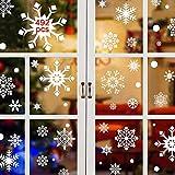 CMTOP Copo de Nieve Pegatinas (492 PCS) Navidad Pegatinas de pared Calcomanías de Ventana Fiesta extraíbles de Navidad Decoración de PVC
