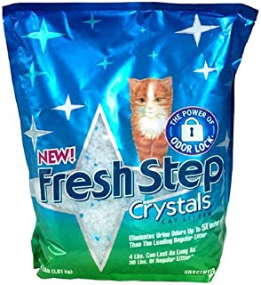 Fresh Step Cat Litter Plus Dual Action Crystals Unscented 4 lbs (8 Pack)