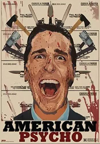 qianyuhe Impresión en Lienzo Imágenes artísticas de Pared Película de Terror Psycho Art Print Póster de Seda Decoración de la Pared del hogar 60x90cm (24x36 Pulgadas
