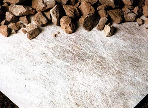 Premium Trenn- und Filtervlies, Geotextil, 110 g/m², ideal als Trennlage zwischen unterschiedlichen Materialien, (0,9 m x 10 m), weiß (3)