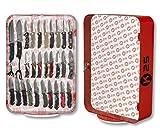 Expositor sobremesa giratorio K25 para exhibir cuchilleria cuchillos y Navajas para Caza, Pesca, Camping, Outdoor, Supervivencia y Bushcraft K25 90147 + Portabotellas de regalo