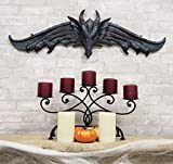 Ebros Large 34.25'Wide Medieval Fantasy Midnight Blue Blood Overwatch Dragon With Open Wings Wall Decor Plaque Entrance Overdoor Pediment Door Hanger Dragons And Dungeons Halloween Wall Art Decorative