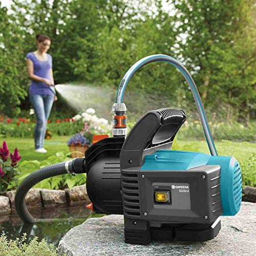Gardena 01719-61 Gartenpumpe 3500/4 SET, 800 W, türkis, schwarz, Orange