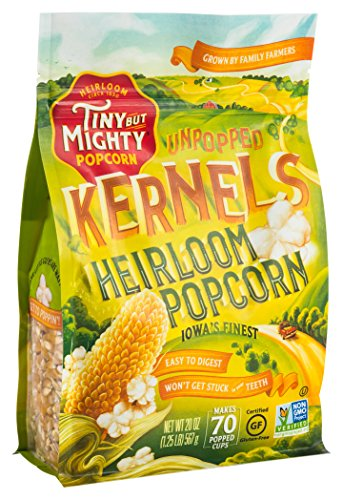 Tiny But Mighty Heirloom Popcorn, Healthy and Delicious, Unpopped Kernels, 1.25lb Bag, Pack of 2