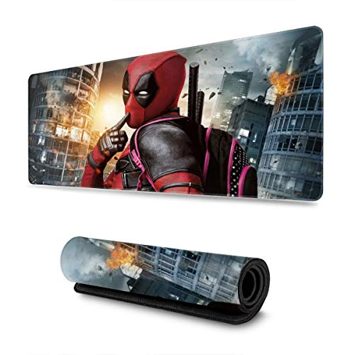 Dead_Pool Gaming Mouse Pad Large Custom Mousepad Pads for Laptop Computer,12x31.5 Inch Desk Cover Computers Keyboard Stitched Edges Office Ideal Mouse Mat