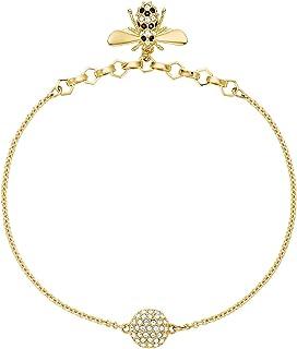 SWAROVSKI 5492249 Gold Plated Remix Collection Bee Strand Women's Bracelet