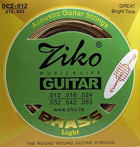 2 Juegos de cuerdas ZIKO DCZ-012 para Guitarra Acústica Bronce 80/20 calibre 012-053 LIGHT…