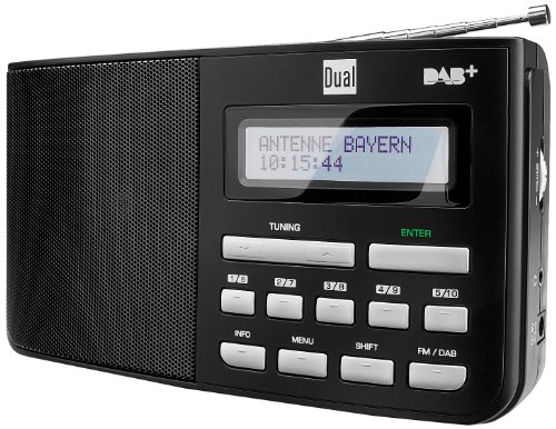 Dual DAB 5.1 Digitalradio mit Kopfhöreranschluss, Schwarz,