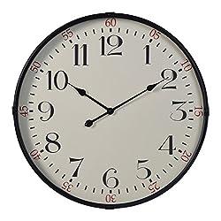 Cooper Classics Morton Black 28 Round Wall Clock